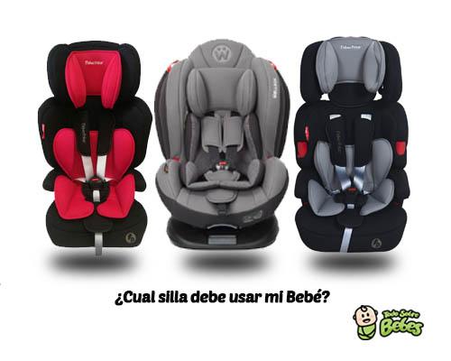 Sillas de seguridad en autos para bebes según la edad
